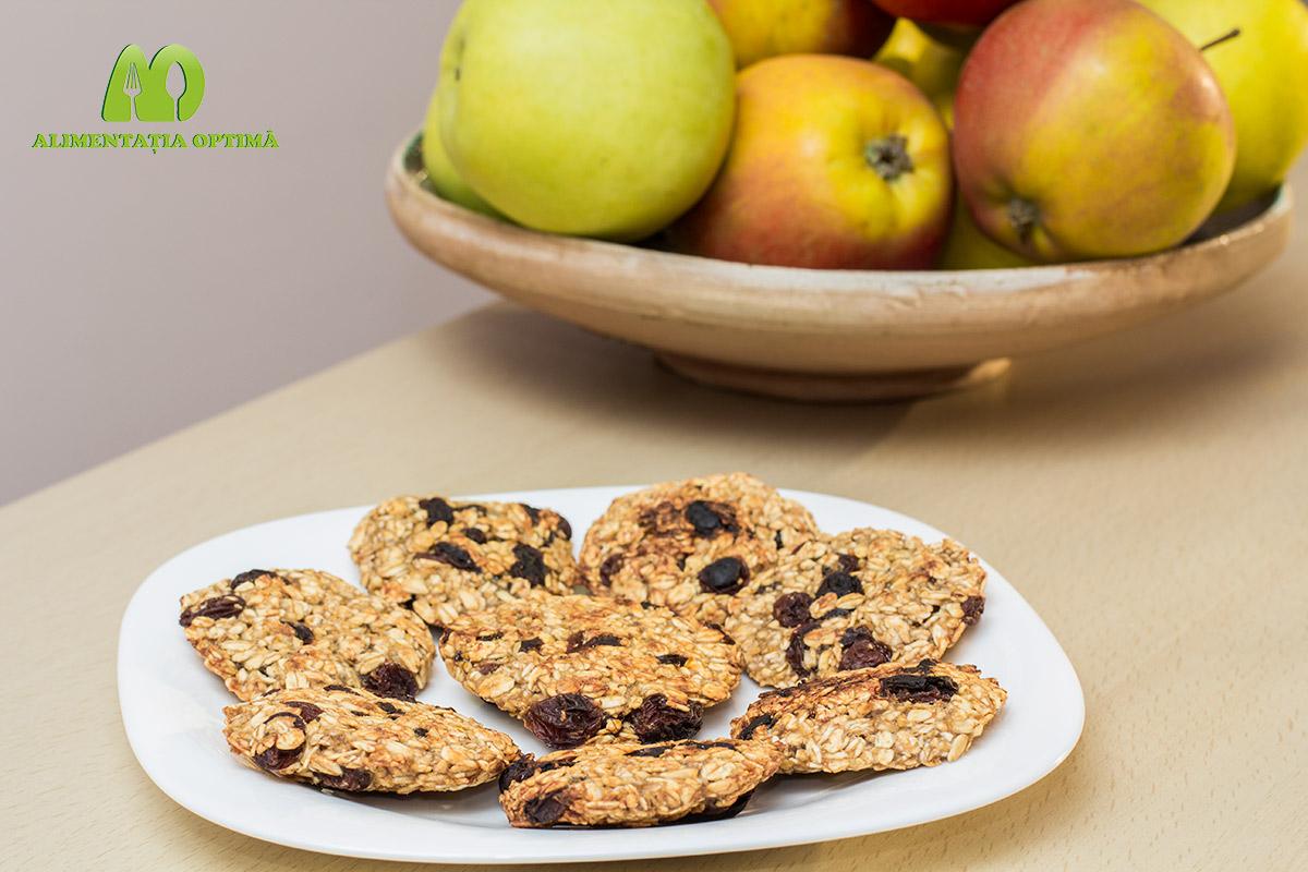 Cookies cu ovăz, mere și stafide