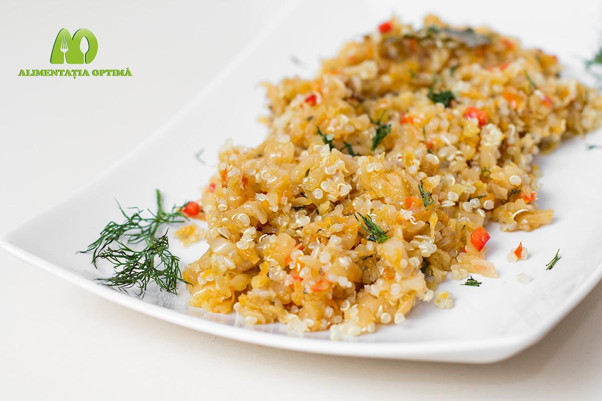 Mâncare de varză cu quinoa